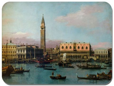 Canaletto PIAZZETTA RIVA DEGLI Mouse Mat. High Quality Venice Fine Art Mouse Pad